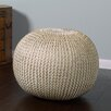 Bungalow Rose Hand Knitted Modern Pouf Ottoman
