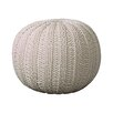 Bungalow Rose Canala Hand Knitted Traditional Pouf Ottoman