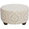Bungalow Rose Noires Round Cocktail Upholstered Ottoman