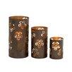 Bungalow Rose 3 Piece Metal Candlestick Set