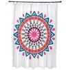Bungalow Rose Oliver Mod Geometric Print Shower Curtain