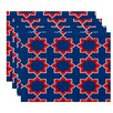 Bungalow Rose Oliver Bohemian 2 Geometric Print Placemat (Set of 4)