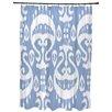 Bungalow Rose Oliver Ikat Geometric Print Shower Curtain