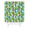 Bungalow Rose Jade Tropical Christmas Shower Curtain