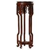 World Menagerie Solid Wood Mahogany Pedestal Plant Stand