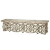 Bungalow Rose Antique White Carved Wall Shelf