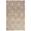 Bungalow Rose Veenendaal Hand-Woven Brown Area Rug