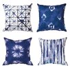 Bungalow Rose Auchincloss Shibori Designed 4 Piece Cotton Throw Pillow Set
