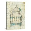 Bungalow Rose Bird Cage II Painting Print on Wrapped Canvas