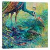 Bungalow Rose Peacock Diptych Panel II Painting on Wrapped Canvas