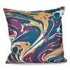 Bungalow Rose Willa Marble Blend Geometric Outdoor Throw Pillow
