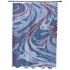 Bungalow Rose Willa Marble Blend Geometric Print Shower Curtain