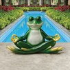Meditating Frog Statue - Bungalow Rose Garden Statues and Outdoor Accents