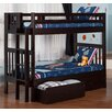 Viv + Ro Twin Over Twin Bunk Bed with Storage