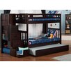 Viv + Rae Twin over Twin Bunk Bed with Staircase and Trundle