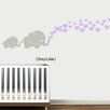 Viv + Rae Maddie Elephants with Colored Heart Bubbles Wall Decal