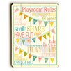 Viv + Rae Playroom Rules Wooden Wall Plaque
