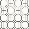"Viv + Rae Linda Circuit Modern Ironwork 33' x 20.5"" Geometric Wallpaper"