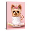 Viv + Rae Yorkie in a Teacup Graphic Art on Wrapped Canvas