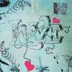 """Heartelier Kunstdruck """"in love"""" 30 cm H x 30 cm B"""