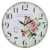 Obique 34cm Roses and Postal Card Wall Clock