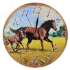 Obique Wild Horse 28cm Family Wall Clock