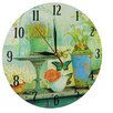 Obique Flowers and Butterflies 28cm Wall Clock