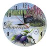 Obique Provencal and Plums 28cm Wall Clock