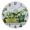 Obique Bienvenue Dans Mon Jardin 34cm Wall Clock