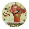 Obique Red Flowers 34cm Wall Clock