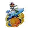 Obique Wanduhr Astronaut