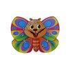 Obique Wanduhr Butterfly
