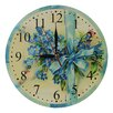Obique 28cm Blue Flowers Bouquet and Ribbon Wall Clock