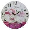 Obique Wanduhr Flowers and Home 34 cm