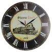 Obique 34cm Steam Train Wall Clock