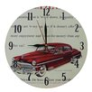 Obique Nostalgic Retro 28cm Desoto Red Car Wall Clock