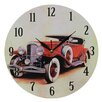 Obique Nostalgic Retro 28cm Doozy Red Car Wall Clock