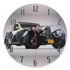 Obique Nostalgic Retro 28cm Black Car Wall Clock