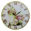 Obique Pink Rose 34cm Wall Clock