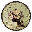 Obique Wanduhr Romantic Flowers and Letters 28 cm