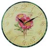 Obique Wanduhr Pink Peony 28 cm