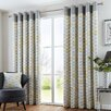 Fusion Home Furnishings Copeland Curtain Panel (Set of 2)