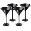 Artland Midnight 7 oz. Martini Glass (Set of 4)