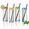 Artland Mingle 12 Oz. Cooler Glass and Straw (Set of 4)
