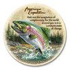 American Expedition 5 Piece Rainbow Trout Stone Coaster Set