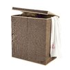 Villacera 2 Compartment Laundry Hamper with Magnetic Lid