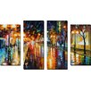 Picture Perfect International 'Night Perspective' by Leonid Afremov 4 Piece Painting Print on Wrapped Canvas Set