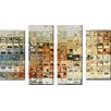 Picture Perfect International 'Tile Art 14' by Mark Lawrence 4 Piece Painting Print on Wrapped Canvas Set