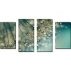 """Picture Perfect International """"Indigo Sparkles"""" by Sharon Johnstone 4 Piece Photographic Print on Wrapped Canvas Set"""