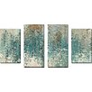 """Picture Perfect International """"Perfect Love"""" by Mark Lawrence 4 Piece Painting Print on Wrapped Canvas Set"""